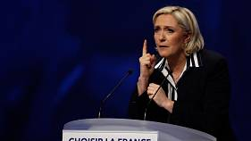 Marine Le Pen fends off Nazi gas chamber row to savage Macron