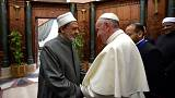 Pope Francis denounces religious fundamentalism across Middle East