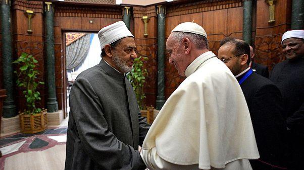 Ferenc pápa Egyiptomban a gyűlölet és az erőszak ellen emelt szót