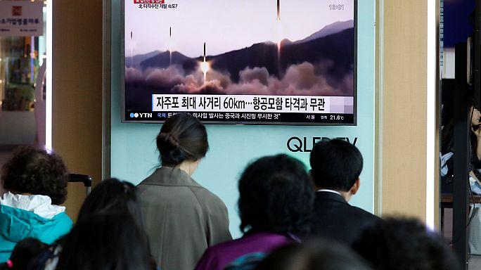 КНДР произвела испытательный запуск баллистической ракеты
