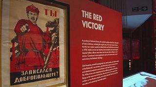 Exposition sur la révolution russe à la British Library