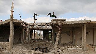 Συρία: Παρκούρ στα χαλάσματα του πολέμου! - Photos