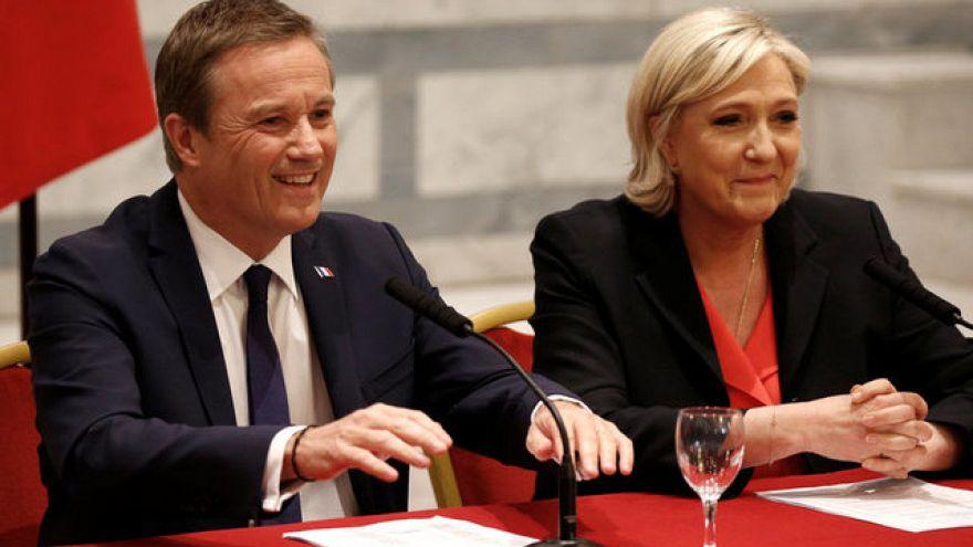 لوبن تختار دوبون انيان رئيسا للوزراء في حال انتخابها