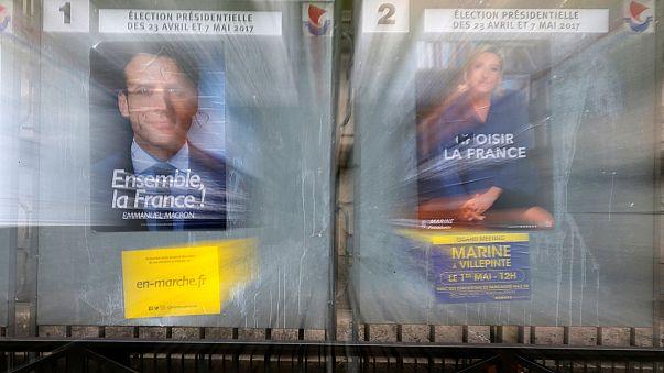 """Presidenciais francesas: Le Pen escolhe primeiro-ministro, Macron critica """"finanças mágicas"""" da adversária"""