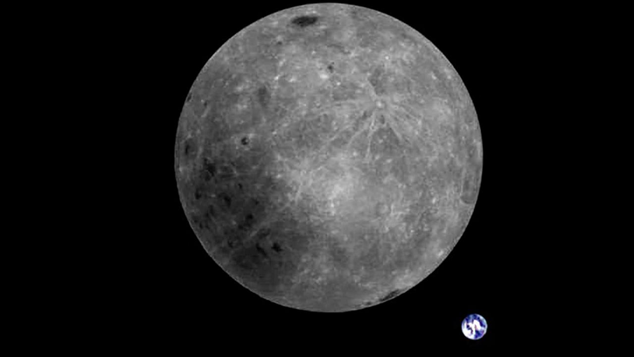 Image: China's LongJiang 2 satellite captured this rare view of the moon's
