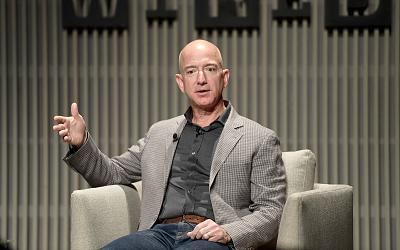 Jeff Bezos speaks onstage at WIRED25 Summit on Oct. 15, 2018 in San Francisco.