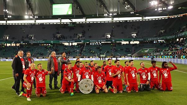 Bayern Munich thrash Wolfsburg to win fifth straight Bundesliga title
