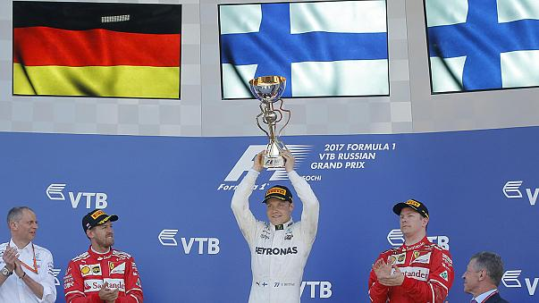 GP Rússia: Valteri Bottas celebra primeiro triunfo da carreira na F1