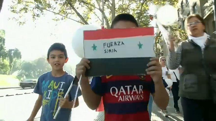 معاناة الشعب السوري تصل إلى تشيلي