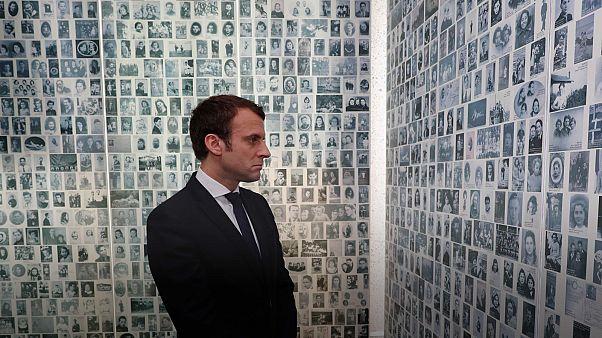 Macron visita memoriais do Holocausto