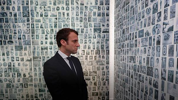 Macron visita memoriais do Holocausto