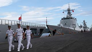 China naval fleet visits Philippines amid regional tensions