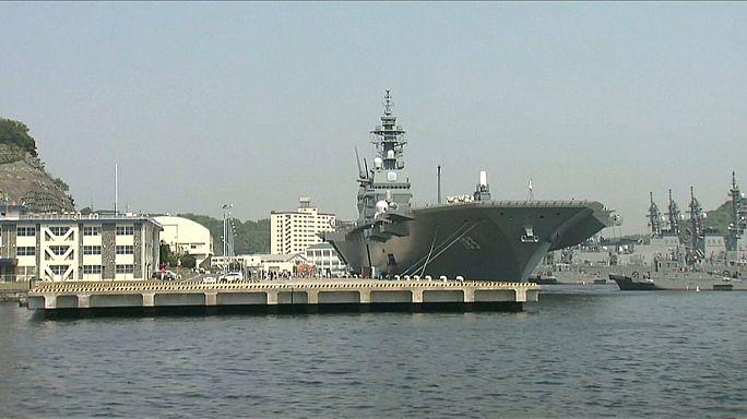 اليابان ترسل حاملة الطائرات ازومو لتدعيم القوات الأمريكية في المنطقة