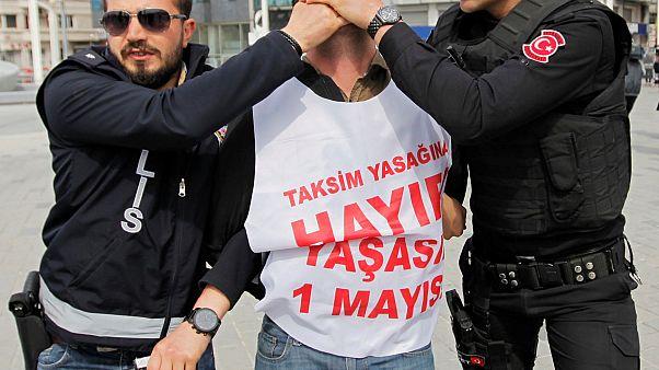 الشرطة التركية تقمع مظاهرات بمناسبة عيد العمال باسطنبول