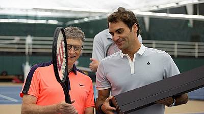 Roger Federer, Bill Gates play tennis to raise $2m for Africa