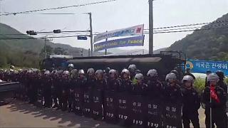 South Korea THAAD scuffles