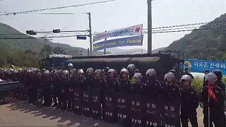 Proteste in Südkorea gegen das THAAD-Raketenabwehrsystem