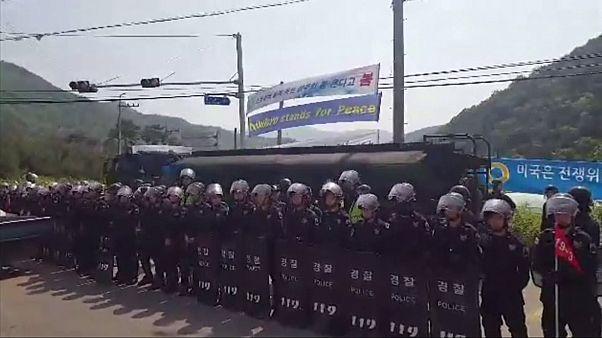 اشتباكات بين الشرطة ومتظاهرين في كوريا الجنوبية