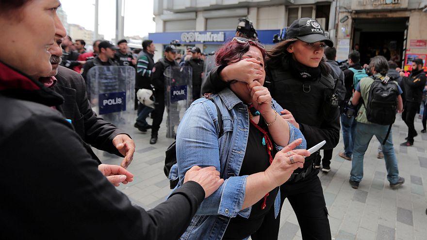 پلیس ترکیه شماری معترض را در روز جهانی کارگر بازداشت کرد