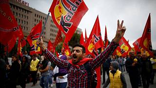 Turkish police clash with May Day protesters