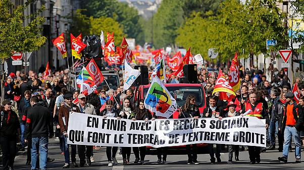 May Day clashes in Paris as tense election looms