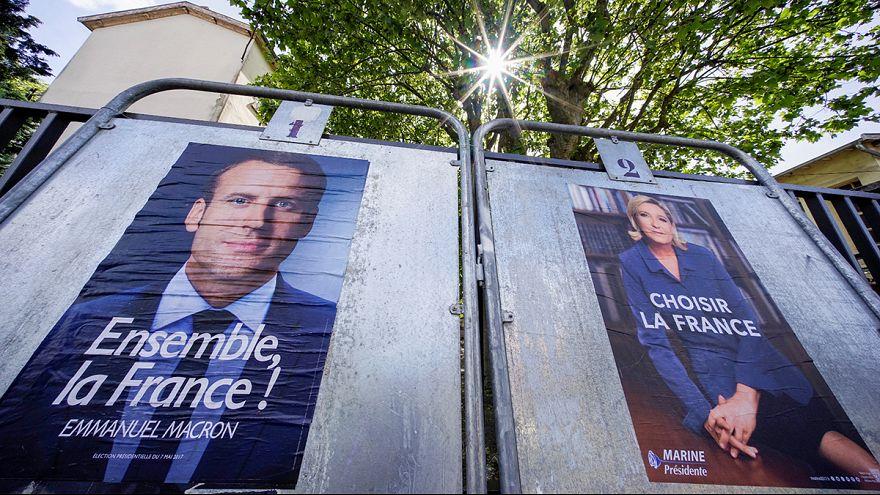 """Macron acusa a Le Pen de extremista y ésta a él de moverse """"por el interés del dinero"""""""