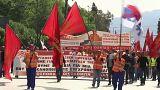 Grecia celebra el Primero de Mayo con una huelga general