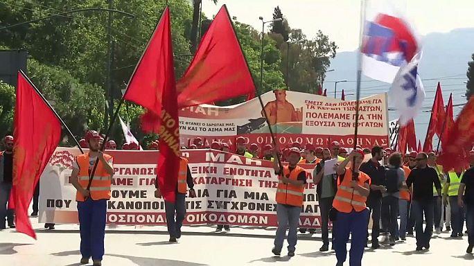 Május elsejei sztrájk és tüntetés Görögországban