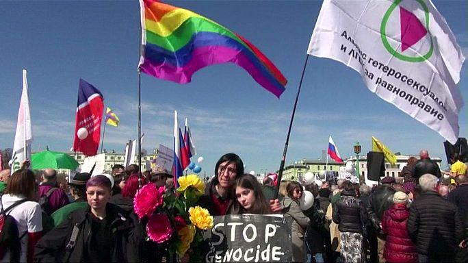 Russia: manifestazione di solidarietà con lgbt ceceni