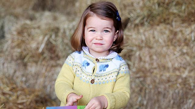 Charlotte hercegnő két éves