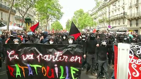 Manifestaciones del Primero de Mayo en París