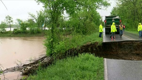 Nach Unwettern: Überschwemmungen im Süden der USA