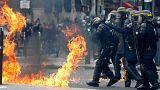 تظاهرات روز جهانی کارگر در پاریس به خشونت کشیده شد