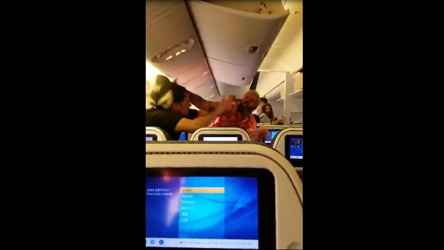 Drunk passenger starts fistfight on plane
