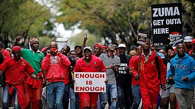 S. Africa's ruling party blames labour union for Zuma heckling