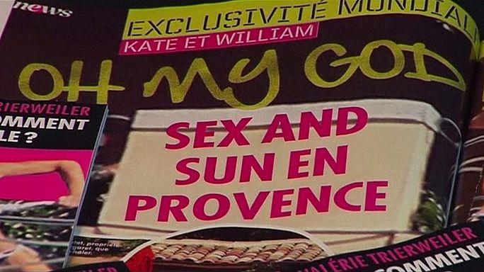 """William e Kate querem 1,5 milhões de euros por publicação de fotos em """"topless"""""""