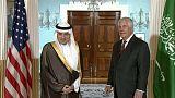 تيلرسون والجبير يبحثان في واشنطن الأوضاع في الشرق الأوسط