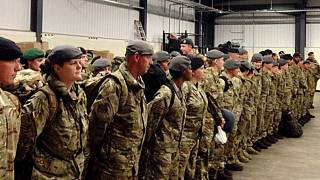 UK troops in South Sudan on a support mission
