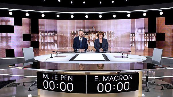 Letzter Schlagabtausch vor der Wahl: Le Pen und Macron im TV-Duell