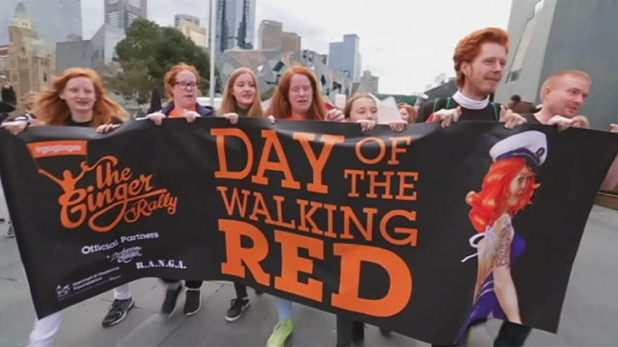 """""""Ginger pride rally"""" : les roux prennent le pouvoir à Melbourne"""
