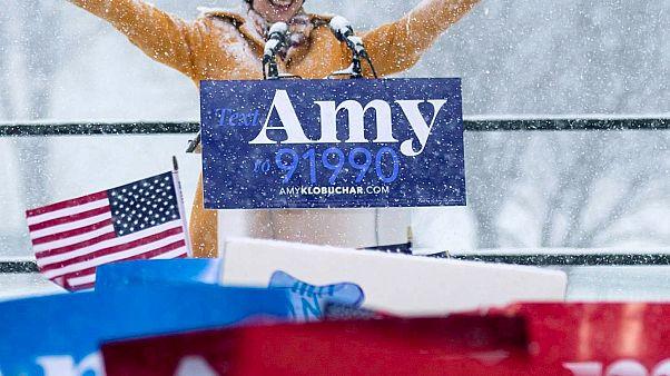 Image: Sen. Amy Klobuchar, D-Minn., announces her candidacy for president i