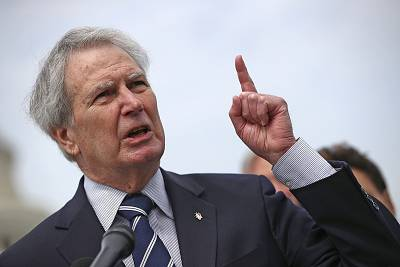 Rep. Walter Jones, R-N.C.,. who died Sunday, outside the U.S. Capitol in March 2017.