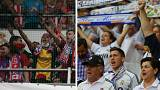 Real and Atletico Madrid supporters mirror the clubs' David versus Goliath histories