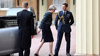 İngiltere Başbakanı Theresa May Buckhingam Sarayı'nda