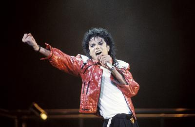 Michael Jackson performs.