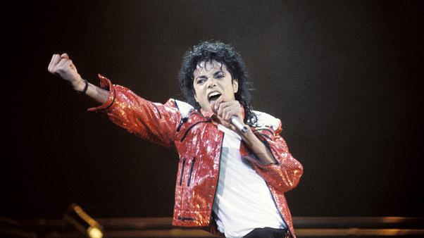 Image: Michael Jackson performs.