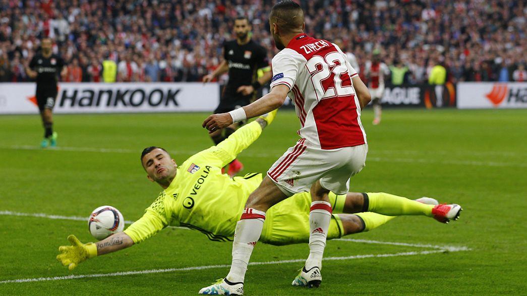 Europa League: Lione senza difesa, l'Ajax vince 4-1