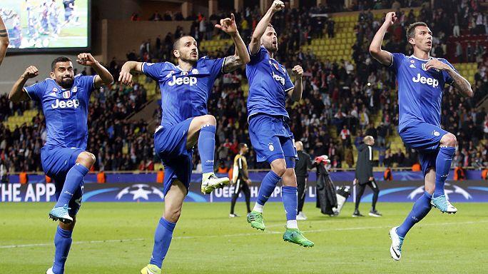 La Juventus gana 2-0 al Mónaco fuera de casa con doblete de Higuaín y se acerca a la final de la Champions League.