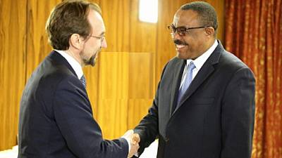 UN rights chief confers with Ethiopian PM and opposition groups