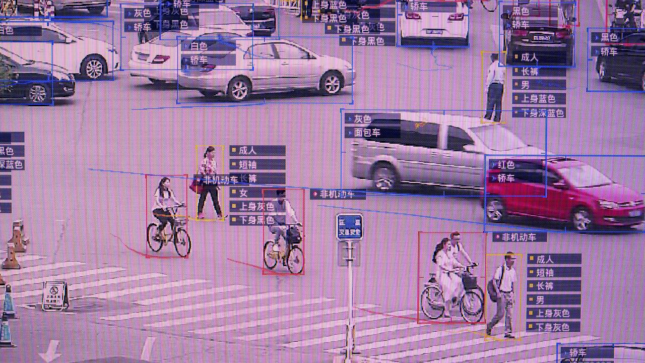 Image: SenseVideo pedestrian and vehicle recognition system at the company'